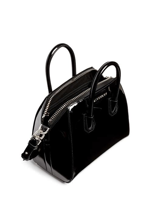 patent leather definition lyst givenchy antigona mini patent leather bag in black