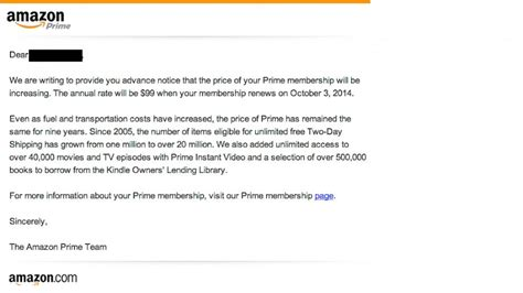 Amazon Cites Fuel Transportation Costs For Prime Membership Price Jump Abc News Price Increase Email Template
