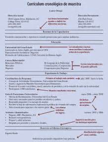 Chronological Resume Sles by Curr 237 Culum Solicitudes Y Cartas De Presentaci 243 N