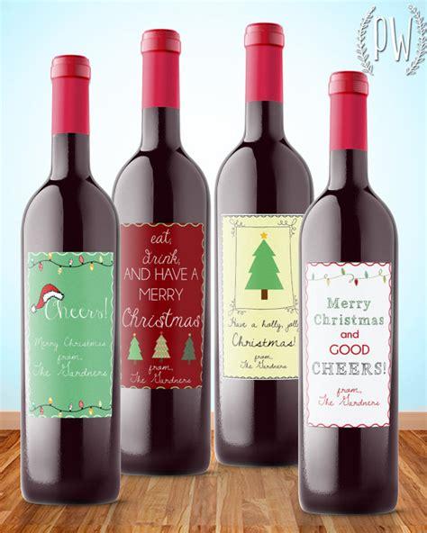 printable labels wine bottles christmas wine label printable gift sticker by printablewisdom