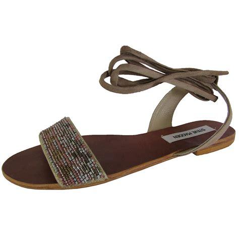 steve madden beaded sandal steve madden womens shaney tie up flat beaded sandal shoes