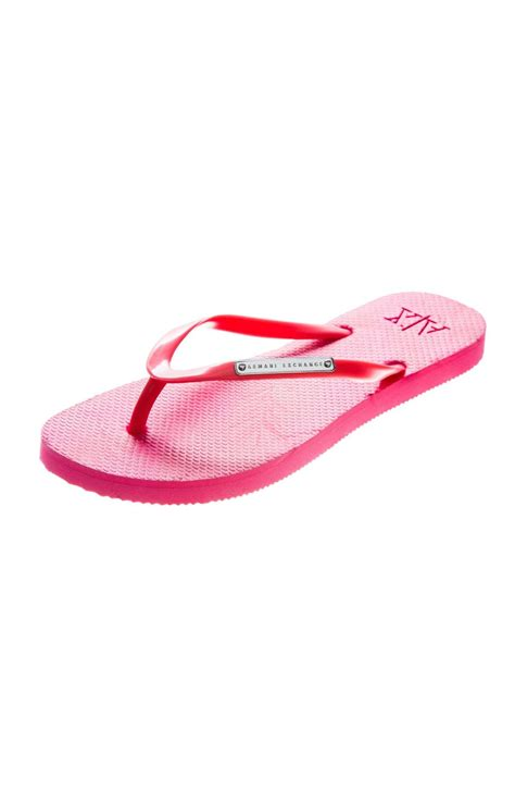 armani exchange slippers armani exchange a x tropical flip flop medium pink