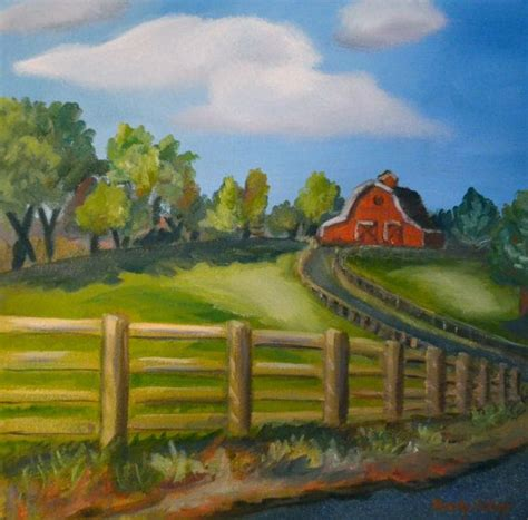 barn barn painting barn landscape painting