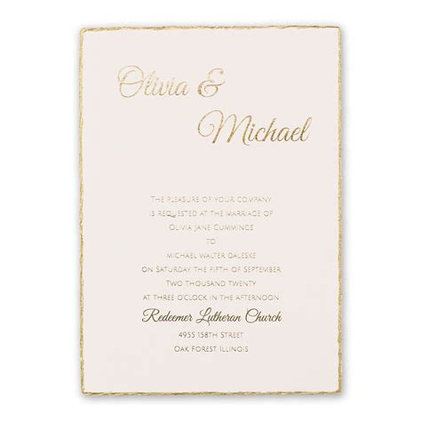 Gold Wedding Invitations by Gold Lining Foil Invitation Invitations By