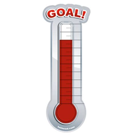 the gallery for gt goal thermometer