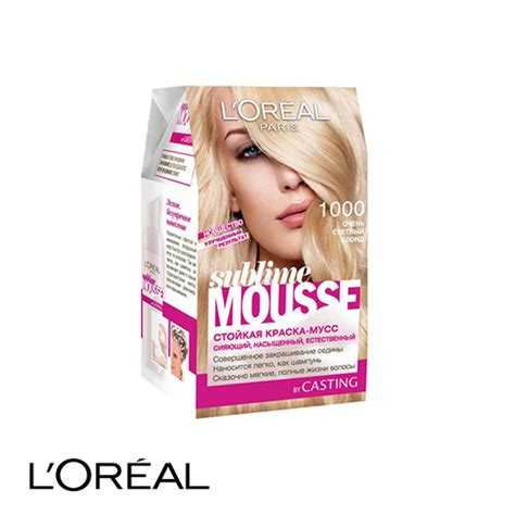 l oreal mousse hair color l oreal sublime mousse permanent hair colour 1000