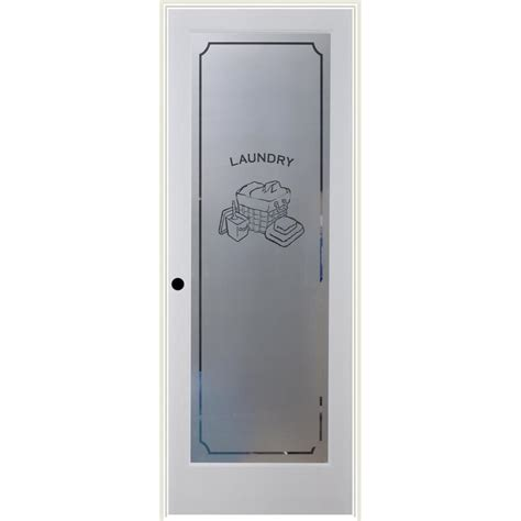 glass light laundry door lowes shop reliabilt white 1 panel solid frosted glass wood