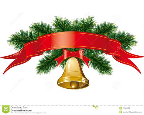 christmas bells with christmas tree royalty free stock