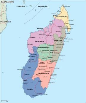 political map of madagascar madagaskar politische karte