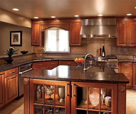 kitchen colors with wood cabinets whiskey black cherry wood kitchen cabinets google search