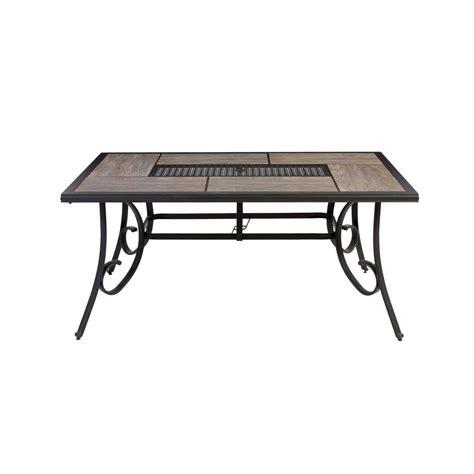 Hton Bay Patio Table - hton bay crestridge rectangular outdoor dining table