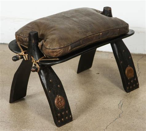 camel saddle ottoman camel saddle seat footstool at 1stdibs