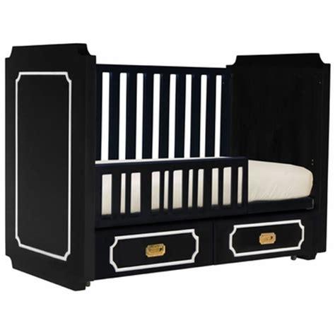 nurseryworks uptown crib conversion kit in black with