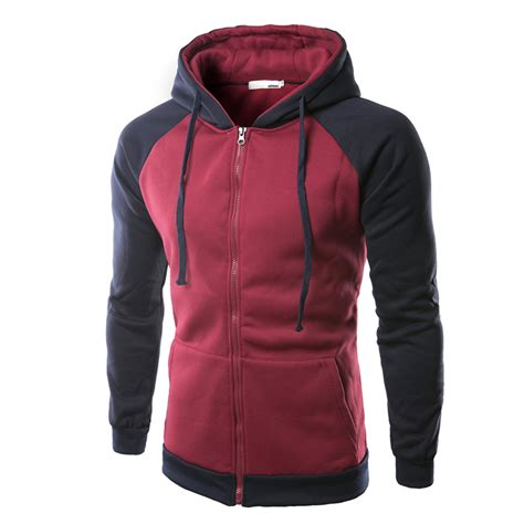 Kent Jaket Zipper Twoton Darkgrey sping fall cotton blend colors patchwork two tone zipper hoodies coat sweatshirts at