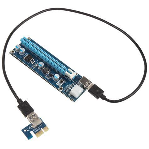 New Pcie Riser 1x To 16x Mining Vga Connector Set kolink pci e 1x to 16x powered riser card min ocuk