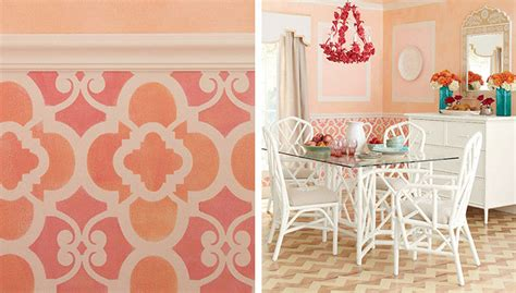 moroccan pattern roller moroccan pattern stenciled wainscot