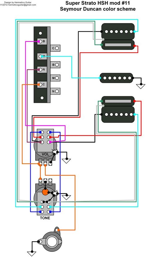hermetico guitar wiring diagram strato hsh mod 11