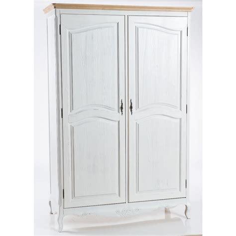 armadio bianco armadio in legno bianco stile shabby con 2 ante cm
