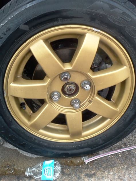 spray paint rims 15inch rims