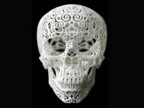 joshua harker 3d printed filigree skull at aha