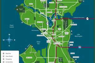Map Of Seattle by Tacc 2016 Seattle Guide