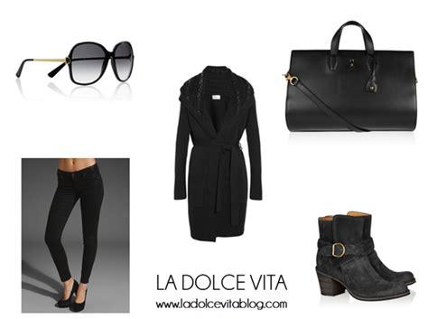 Fg L106 Cardi Black la dolce vita jet set style rosie huntington whiteley
