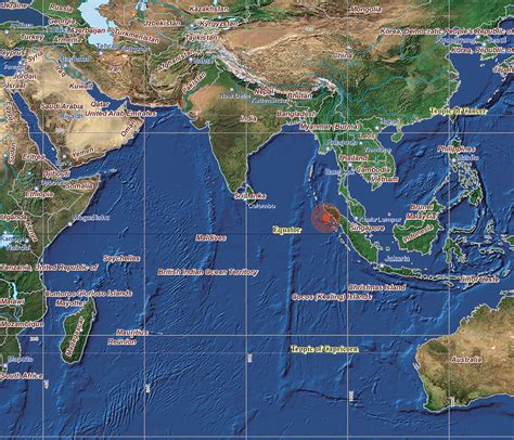 earthquake indian ocean arcnews spring 2005 issue gis supports indian ocean