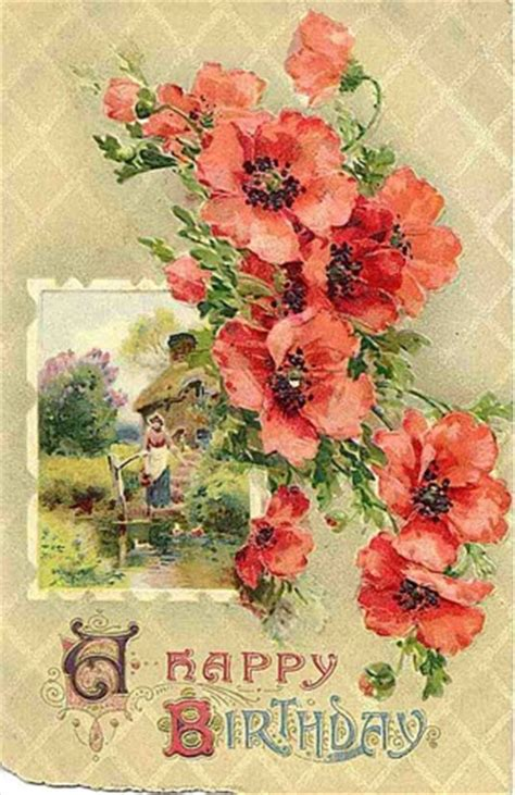free printable victorian birthday cards free clip art from vintage holiday crafts 187 blog archive