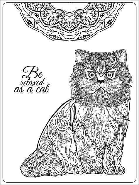 animals an coloring book with easy and relaxing coloring pages for animal books pages be relaxing as a cat by besedina animals