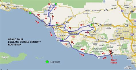 Pch To Santa Barbara - los angeles wheelmen bicycle club grand tour