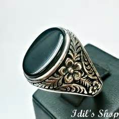 Cincin Perak 925 Sterling Silver Ring Semi Precious Qsrgb001 impressive vintage mens 8 32ct pigeon blood ruby bezel yellow gold ring