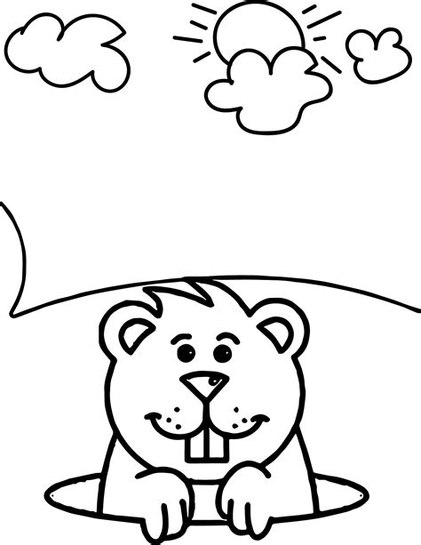groundhog coloring pages preschool funny groundhog coloring pages coloringsuite com