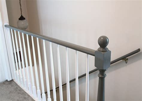 how to paint stair banisters before and after carpeted stairs get painted stratton