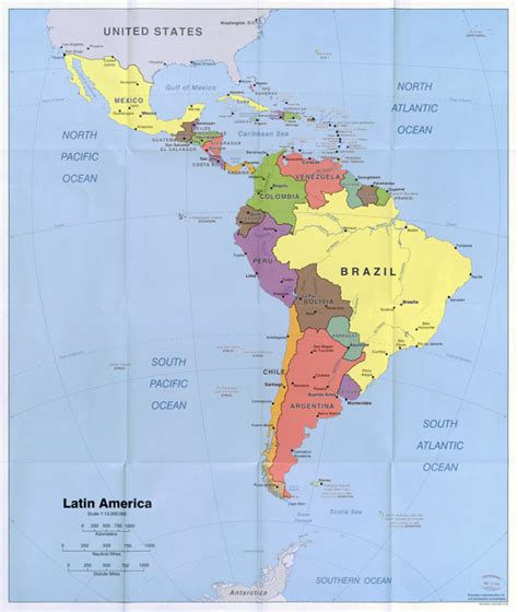 south america major cities map large scale political map of america with capitals