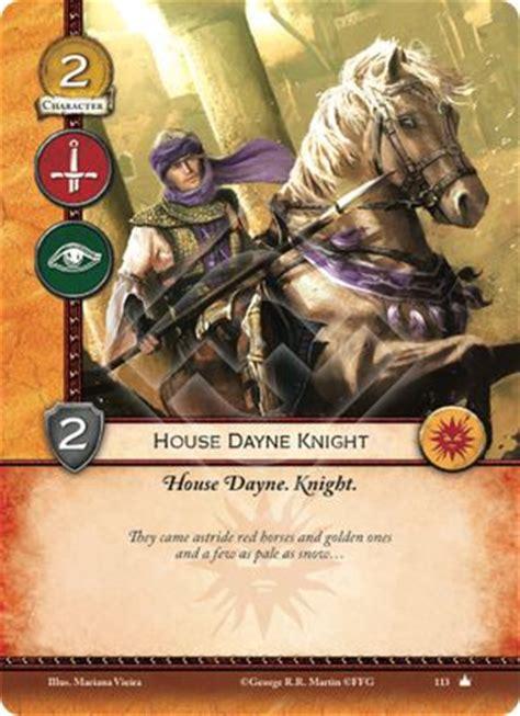 house dayne house dayne knight core set a game of thrones 2nd edition a game of thrones 2nd
