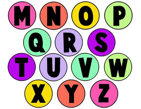 printable alphabet letters in circles patent pending projects plastic cap abc magnets project