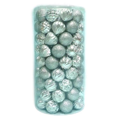 green silver for christmas home accents 2 3 in shatter proof ornament silver 101 c 16068b the home depot