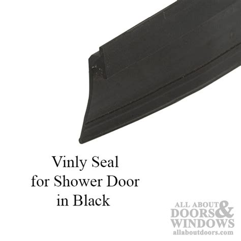 7 8 Inch Vinyl Seal For Shower Door Black Shower Door Replacement Seal Bottom