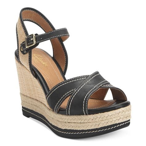 clarks artisan wedge sandals clarks artisan by amelia air platform wedge sandals in