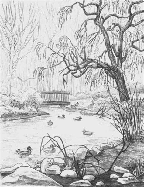 easy landscape drawings landscape sketching  beginners