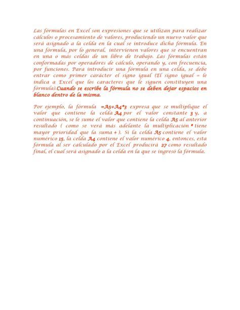 se abrira paritarias u o m las f 243 rmulas en excel son expresiones que se utilizan para