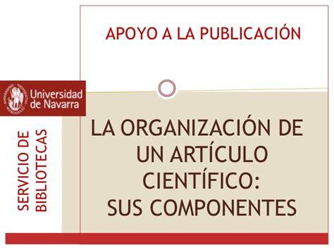 Resumen Y Sus Partes by 237 Culo Cient 237 Fico Estructura Y Partes De Un Articulo
