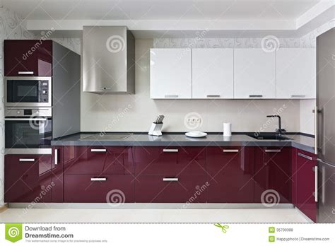 Modern Kitchen Interior Royalty Free Stock Photos   Image