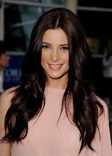 hair color for dark brown hair long hairstyles 2015