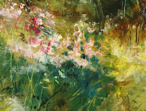 outdoor oil ls for patio mediterranean dream flower garden oil painting 24 x 36