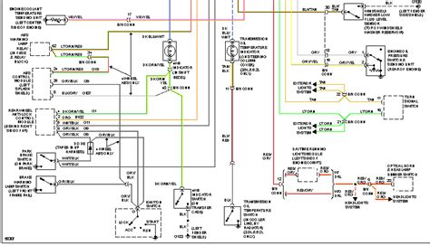 1996 dodge dakota wiring diagram instrument panel dakota