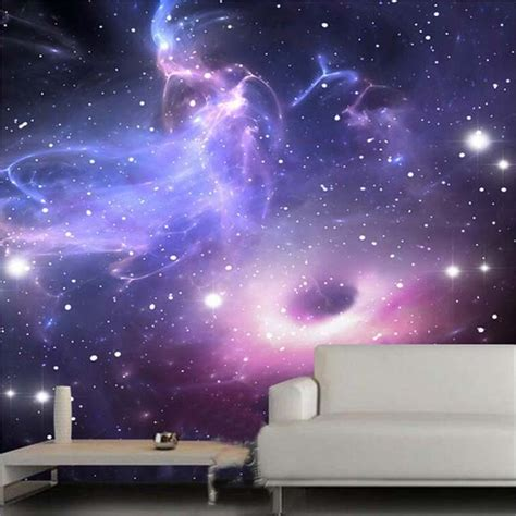 Galaxy Wallpaper For Ceiling by Aliexpress Buy Custom 3d Stereoscopic Universe Galaxy Ceiling Mural Wall Painting