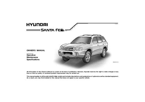 online car repair manuals free 2006 hyundai santa fe user handbook 2006 hyundai santa fe owners manual