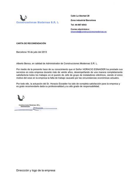 carta de recomendacion para visa ejemplo ejemplo de carta de recomendaci 243 n personalizada ejemplos de