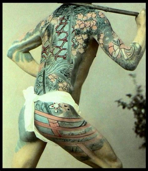 japanese full body tattoo history image gallery irezumi history